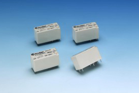 Low profile PCB relays now available with AC coils